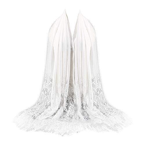YESOt Unisex Women's Fringed Printing Paris yarn Soft Scarf Long Wrap Shawl Collar Lightweight Scarves Beach Towel (B)