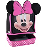 Disney MN29130-SC-BK00 Minnie Mouse Dual Compartment Ears Insulated Lunch Kit, One