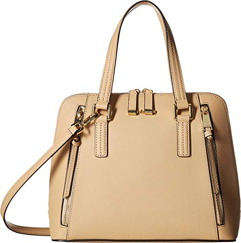 Calvin Klein Women's Saffiano Leather Satchel Nude/Gold One Size