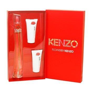Kenzo Flower 3 Piece Gift Set for Women FL368, 3.4 Ounce