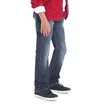 Wrangler Boys' 5 Pocket Dusky Straight Fit Jeans - Dark Blue -14 Regular