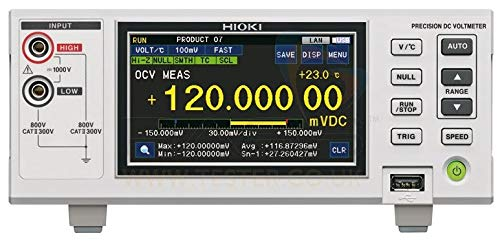 (Hioki DM7275-03 Precision DC Voltmeter (20 PPM) with RS-232C Interface)
