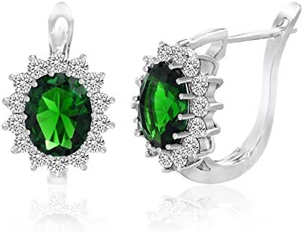 SPECIAL OFFER Cubic Zirconia Created Gemstone Leverback Earring