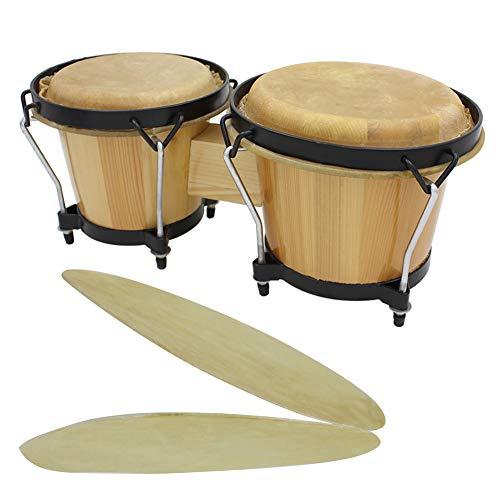 dezirZJjx Drum Skin,2Pcs 29/31cm Round Buffalo Leather African Bongo Drum Surface Skin Accessories 8.5 inch