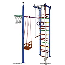 Vertical-10 Children's Indoor Home Gym Swedish Wall Playground for Kids School