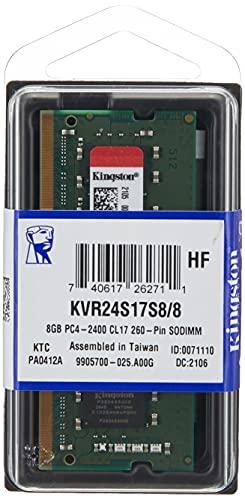 Kingston Kvr24S17S8/8 8 Gb 2400 Mhz Ddr4 Non Ecc-Geheugen Ram Sodimm