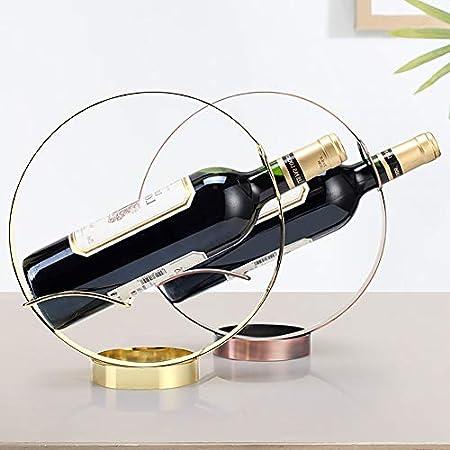 HCYSNG Vinoteca de pie botelleros Vino Soporte para Botella de Vino de pie Independiente Práctico Estante para Botellas de Vino (Color : Bronze)