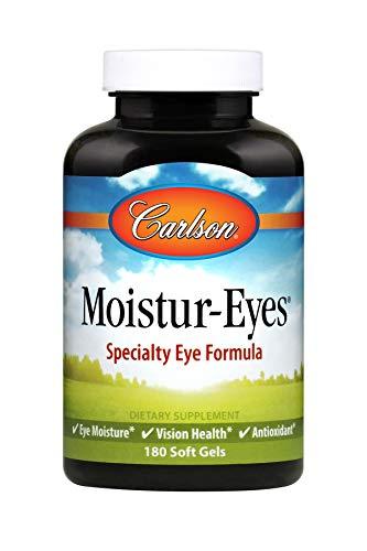 Carlson - Moistur-Eyes, Specialty Eye Formula, Promotes & Maintains Normal Eye Moisture, 180 Soft gels