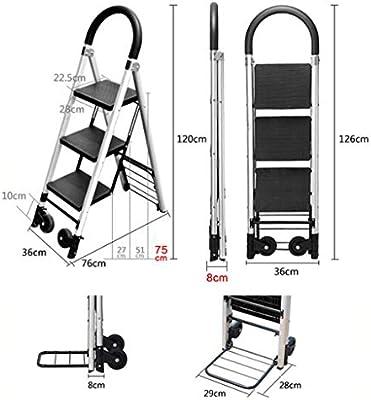 KJZ Escalera de transporte, almacén de hogar Escalera metálica ...