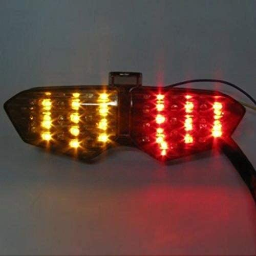 CUHAWUDBA Fanali Posteriori Un LED Integrati Fumo per Indicatori di Direzione per YZF R6 03-05 04 Yzf-R6S 06-08