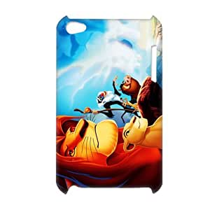 3D Print Classic Cartoon Movie&The Lion King Background Case Cover for iPod Touch 4 - Personalized Hard Cell Phone Back Protective Case Shell-Perfect as gift