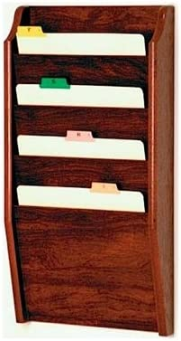 Model ET-CH14-2-Mahogany WM 4 Pocket Medical Chart Holders Wall Mounted