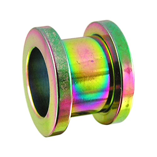 22MM Rainbow Anodized Surgical Steel Fit Ear Flesh Tunnel Body - Annapolis Mall