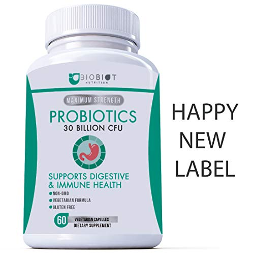 Probiotic Plus Maximum Strength - Ultimate Care - Patented Delay Release Capsules - 30 Billion CFUs, 15 Key Strains - Broad Spectrum Support - Best Probiotics Supplement for Women an Men - MADE IN USA
