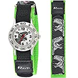 Ravel Boy's Dinosaur Black/Green Adjustable Strap Watch R1507.59