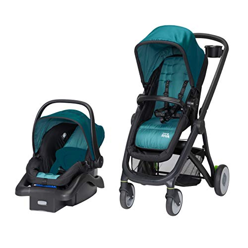 Safety 1st Riva 6 in 1 Flex Modular Travel System with Onboard 35 FLX Infant Car Seat and Base, Blue Sky (Safety 1st On The Go Fold Up Booster)