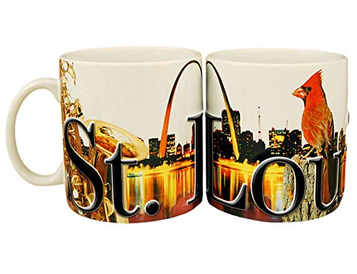 - Americaware SMSTL01 St. Louis 18 oz Full Color Relief Mug