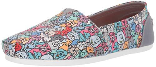 Skechers BOBS Women's Bobs Plush - Woof Party Shoe, Multi, 8 M US (Shoe Parlor)