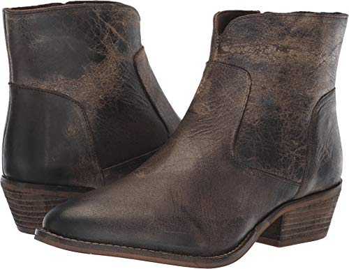 Diba True Cool Wind Leather Ankle Bootie Charcoal
