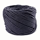 (3mm x 100m(about 109 yd)) Handmade Decorations Natural Cotton Bohemia Macrame DIY Wall Hanging Plant Hanger Craft Making Knitting Cord Rope Color Gray Macramé Cord