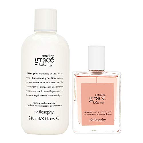(Philosophy Amazing Grace Ballet Rose Set 2 Piece Set: 2 oz Eau de Toilette Spray + 8 oz Body Emulsion)
