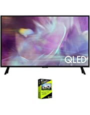 Samsung QN32Q60AA 32 Inch QLED HDR 4K UHD Smart TV (2021) Bundle with Premium 4 Year Extended Protection Plan