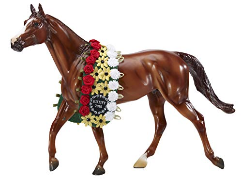 Breyer 9300 Traditional Exclusive Justify with Garland Horse Toy Model - 2018 Triple Crown Winner (1: 9 Scale), Multicolor