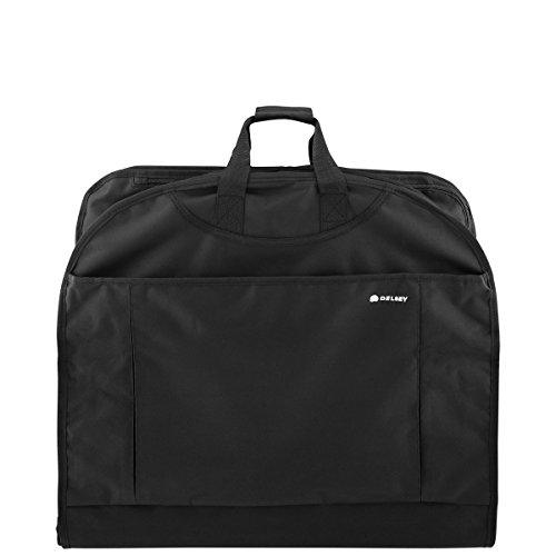 Delsey Luggage Helium Lightweight Mid Length Garment Cover (45-Inch, Black)