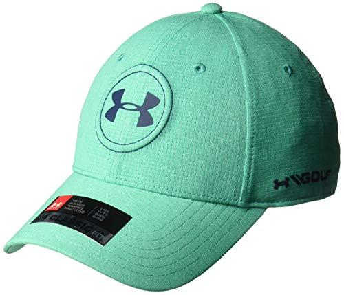Under Armour Mens Jordan Spieth UA Tour Cap, Green Malachite (349)/Academy, Large/X-Large by Under Armour