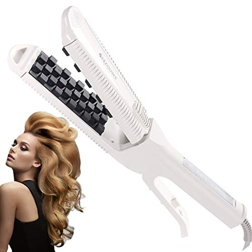 Root Pump Volumizing Hair Iron for Fine Hair 1.5 x 3.5 inch, Long Lasting Volume Texture Rootlifter, Crimping Thickening Professional Styling Root Booster Volumizer Ceramic Worldwide Dual Voltage