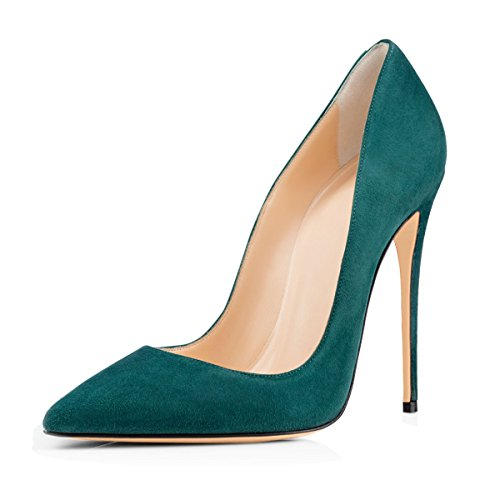 XUE Women's Shoes suede Spring/Summer Buckle Pointed Shoes Office & Career Party & Evening Stiletto Heel Formal Business Work (Color : C, Size : 34) C