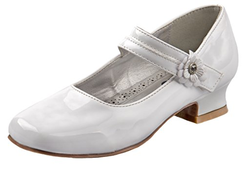 First Communion Shoes White - Josmo Girl's Dressy Patent Low Heel