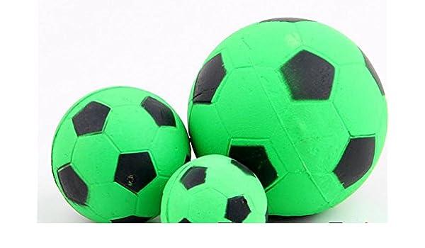 hanhanle® Mascota Perro Fluorescente color elástico sólido pelota ...