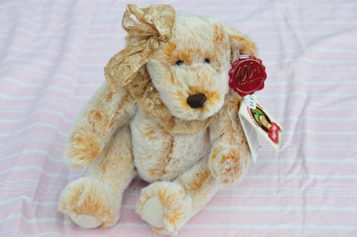 - 100th Anniversary Bear Limited Edition Teddy's Teddy 1902 President Theodore Roosevelt's Mississippi Hunting Trip. Gold Lace Head Bow and Neck Ruffle
