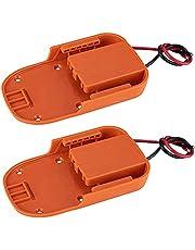 Beauneo 2Pc for for AEG 18V Li-Ion Battery Dock Power Connector Rigid 12 Gauge Robotics
