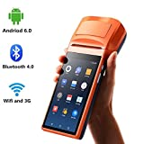Handheld Android6.0 POS Terminal with 3G WIFI Bluetooth MUNBYN Built-in Thermal Printer and 1D 2D QR Barcode Reader for Small Business Receipt Printing