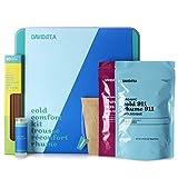 DAVIDsTEA Cold Comfort Kit, Tea Gift Set for Cold Season, 3 Loose Leaf Teas, 10 Drawstring Filters, 10 Honey Sticks, Tea-Infused Lip Butter, 150 Grams / 5.3 Ounces