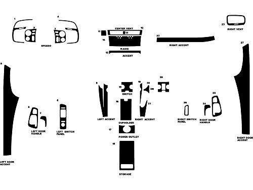 Rvinyl Rdash Dash Kit Decal Trim for Honda S2000 2000-2009 - Carbon Fiber 4D (Black)