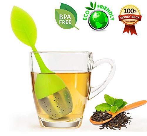 Tea Infuser,Loose leaf Tea Infuser, Extra Fine Mesh Tea Infuser with Drip Tray,Tea Strainer,Stainless Steel Tea Ball Tea Infuser,Perfect Tea Balls Tea Strainers for All Types of Loose Leaf Tea.