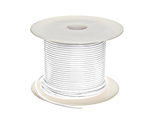 UL1007 300V 16GA Stranded Wire (100 Ft, White) by Qualitech