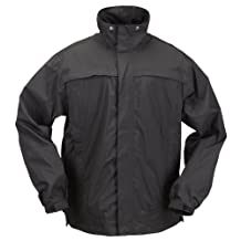 5.11 Tactical Series 48098 Tac Dry Rain Shell Jacket (Black, X-Large)