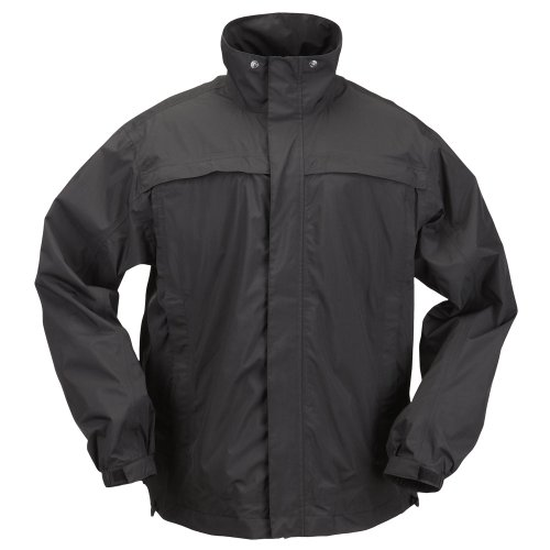 Outerwear Jackets 5.11 Tactical (5.11 Tactical #48098 Tac Dry Rain Shell Jacket (Black, Large))