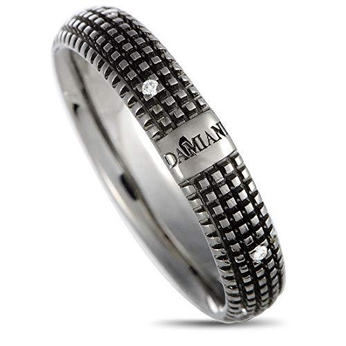 Damiani Metropolitan 18K Black Gold 9-Diamond Band Ring