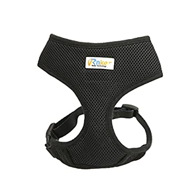 Rnker Soft Mesh Dog Harnesses Padded Vest No Pull Comfort Double Layer Harness for Pet Puppy