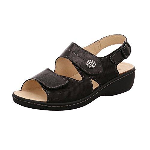 LONGO 3074279-1 - Sandalias de vestir de Piel Lisa para mujer negro negro negro