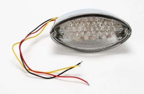 - Drag Specialties LED Taillight - Cat Eye with Clear Lens 12-0422C