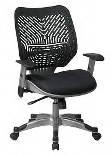 Spaceflex Back Managers Chair - Office Star REVV Series Managers Chair with SpaceFlex Back and Mesh Seat, Raven