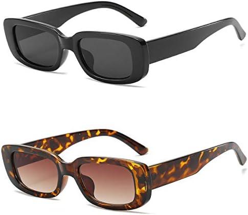 Dollger Rectangle Sunglasses for Women Retro Fashion Sunglasses UV 400 Protection Square Frame Eyewear