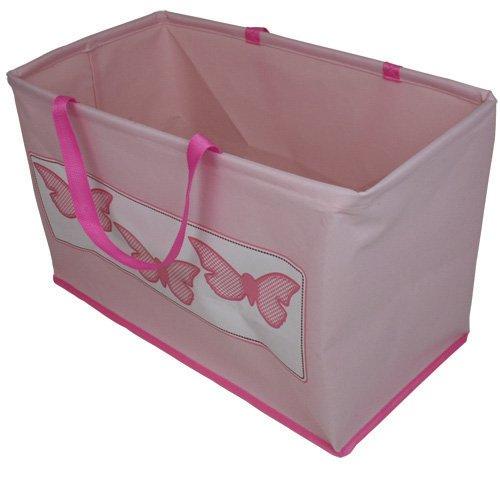 JVL - Borsa pieghevole per giochi da bambina, motivo: farfalle, colore: Rosa 08-007B