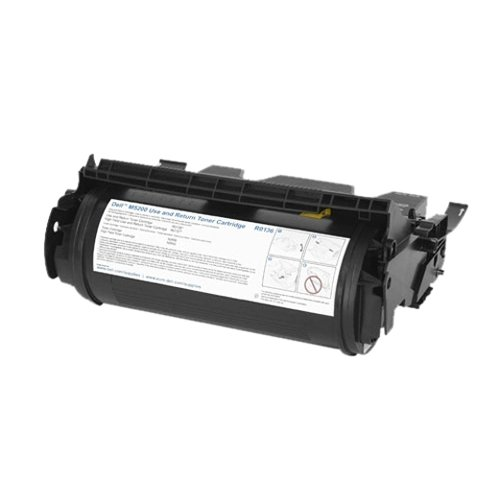 5 Lot - Genuine Dell N0888 Black Toner For Dell M5200, M5200N Laser Printers High Yield 12,000+ Pages